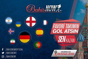 Bahisnow Dünya Kupasında Gol Başına 5 TL Bonus